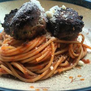 "spaghetti and ""meatballs"""