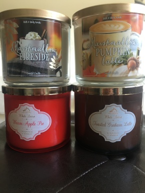 bath and body works fall candles 2016